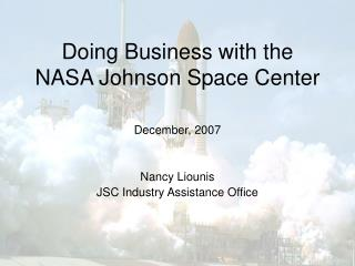 Doing Business with the  NASA Johnson Space Center