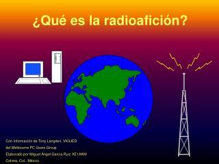 Qu  es la radioafici n