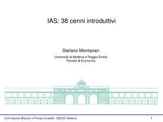IAS: 38 cenni introduttivi