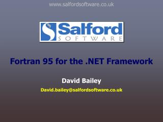 Fortran 95 for the  Framework