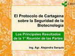 El Protocolo de Cartagena sobre la Seguridad de la Biotecnolog a