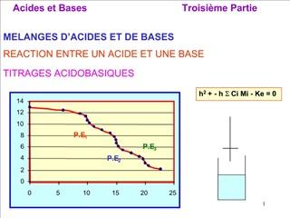 MELANGES D ACIDES ET DE BASES