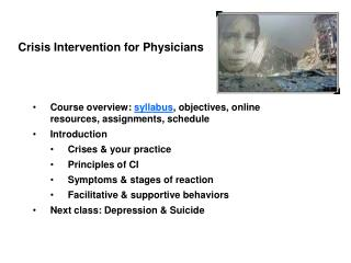 Crisis Intervention for Physicians