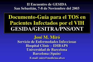 Documento-Gu a para el TOS en Pacientes Infectados por el VIH GESIDA