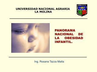PANORAMA NACIONAL DE LA OBESIDAD INFANTIL.