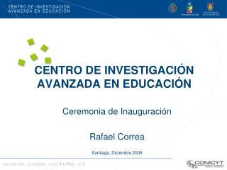 CENTRO DE INVESTIGACI N AVANZADA EN EDUCACI N