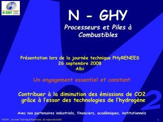 N - GHY Processeurs et Piles   Combustibles