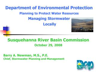 Susquehanna River Basin Commission October 29, 2008