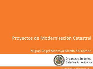 Proyectos de Modernizaci n Catastral  Miguel Angel Montoya Mart n del Campo