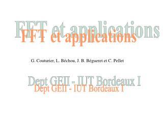 G. Couturier, L. B chou, J. B. B gueret et C. Pellet
