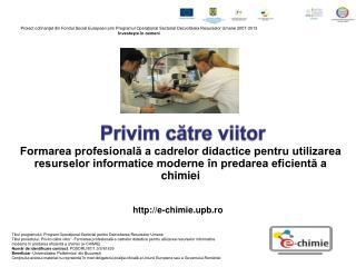 Formarea profesionala a cadrelor didactice pentru utilizarea resurselor informatice moderne  n predarea eficienta a chim