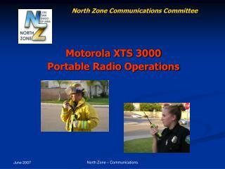 Motorola XTS 3000 Portable Radio Operations