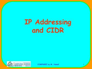 IP Addressing  and CIDR
