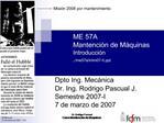 ME 57A Mantenci n de M quinas Introducci n .