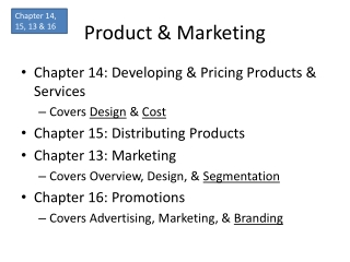Pricing Chapter 16