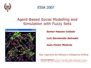 Agent-Based Social Modelling and Simulation with Fuzzy Sets