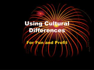 Using Cultural Differences