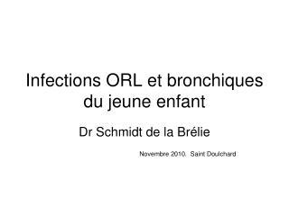 Infections ORL et bronchiques du jeune enfant