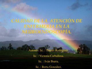 CALIDAD DE LA  ATENCI N DE ENFERMERIA EN LA  NEUROENDOSCOP A.