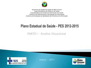 Plano Estadual de Sa de - PES 2012-2015