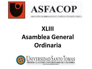 XLIII  Asamblea General Ordinaria