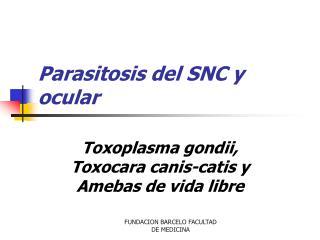Parasitosis del SNC y ocular