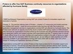 Protera to offer free SAP Business continuity resources to o