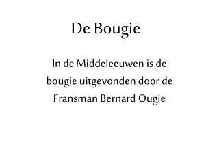 De Bougie
