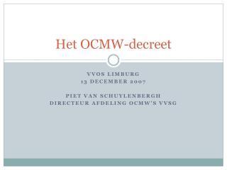 Het OCMW-decreet