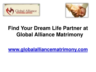Services Offered by Global Alliance Marriage Bureau