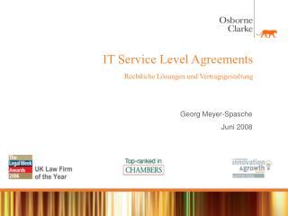 IT Service Level Agreements Rechtliche L sungen und Vertragsgestaltung