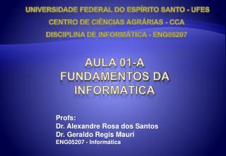 AULA 01-A Fundamentos da Inform tica