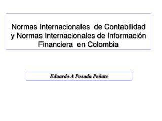 Normas Internacionales  de Contabilidad  y Normas Internacionales de Informaci n Financiera  en Colombia