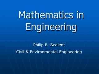 Mathematics in Engineering