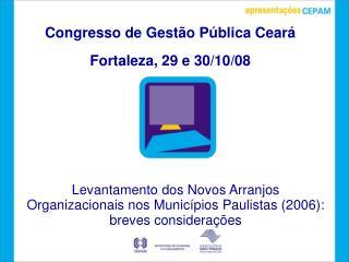 Congresso de Gest o P blica Cear   Fortaleza, 29 e 30