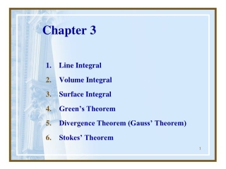 Chap 10  Vector Integral Calculus  Integral Theorem