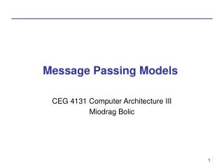 Message Passing Models