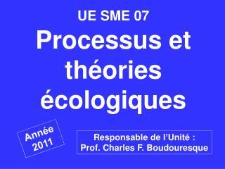 UE SME 07  Processus et th ories  cologiques