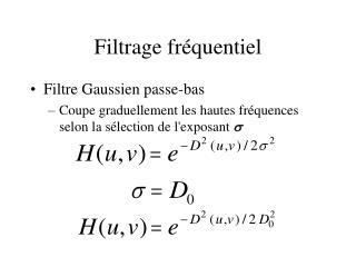 Filtrage fr quentiel