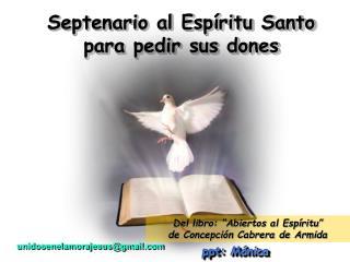 Septenario al Esp ritu Santo para pedir sus dones