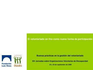 El voluntariado on line como nueva forma de participaci n      Buenas pr cticas en la gesti n del voluntariado  XIV Jorn