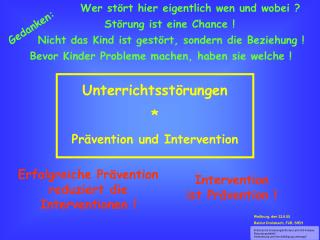 Unterrichtsst rungen  Pr vention und Intervention