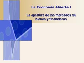 La econom a abierta en las transacciones internacionales