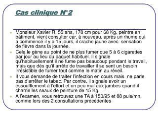 Cas clinique N 2