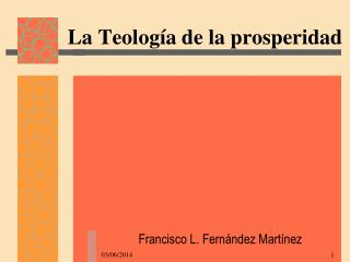 La Teolog a de la prosperidad