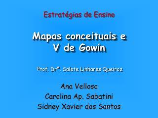 Mapas conceituais e V de Gowin