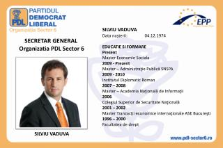 SECRETAR GENERAL  Organizatia PDL Sector 6
