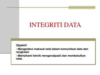 INTEGRITI DATA
