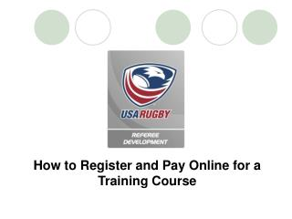 How to Register and Pay Online for a Training Course