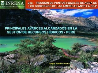 2da     REUNI N DE PUNTOS FOCALES DE AGUA DE LOS GOBIERNOS DE LAS AM RICAS ANTE LA OEA